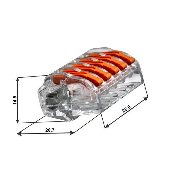 Conex Conex lasklem 5-polig 0,5 tot 4mm² - voor flexibele en massieve draden - Prijs per stuk