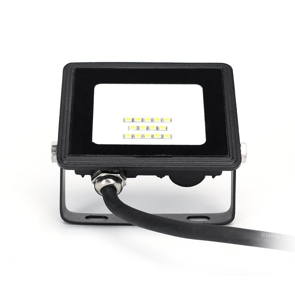 LED Schijnwerper breedstraler - 10W vervangt 90W - Lichtkleur optioneel - 3 jaar garantie