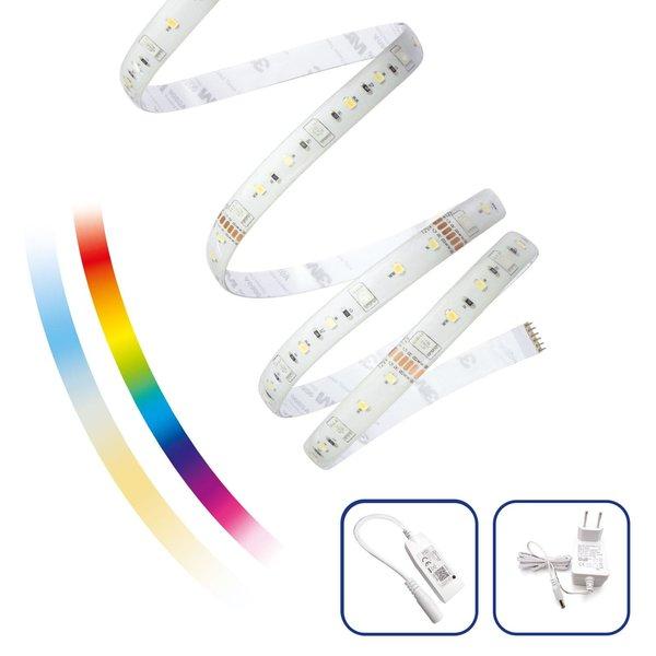 WiFi LED Strip - 5m 17W - RGB+CCT alle lichtkleuren - Bediening met de App