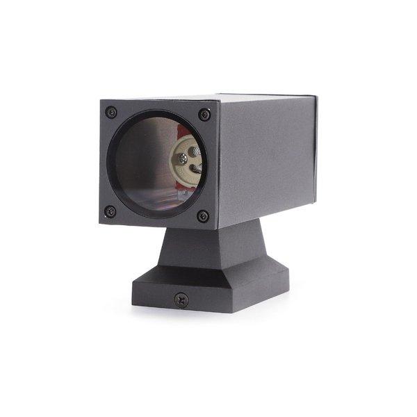 Wandlamp Up Down Rechthoek Zwart - IP65 Buitengebruik - GU10 aansluiting