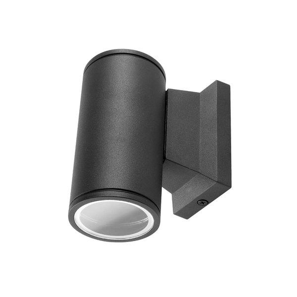 Wandlamp single spot - Rond Zwart - IP65 Buitengebruik - GU10 aansluiting