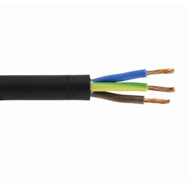 Aansluitsnoer - 100m - 3x 1.5mm2 met zwarte mantel rond - H05VV-F 3G1.5