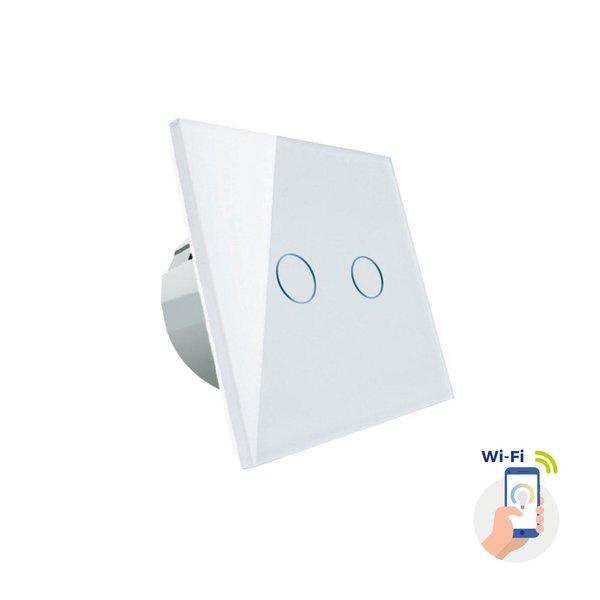 WiFi wandschakelaar inbouw - Touch bediening en bediening met de App - 1000W max.
