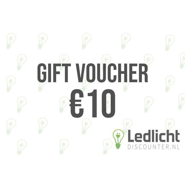 E-voucher cadeaubon ter waarde van €10,-