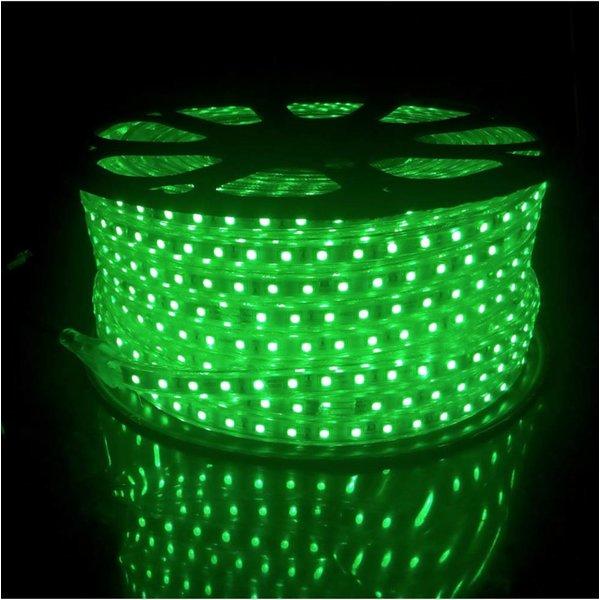 LED RGB lichtslang plat - 1 meter - 1-knops bediening - werkt direct op 230V