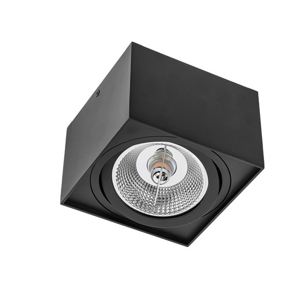 LED plafondspot - AR111 230V - Mat Zwart Vierkant - Excl. AR111 LED Spot geleverd