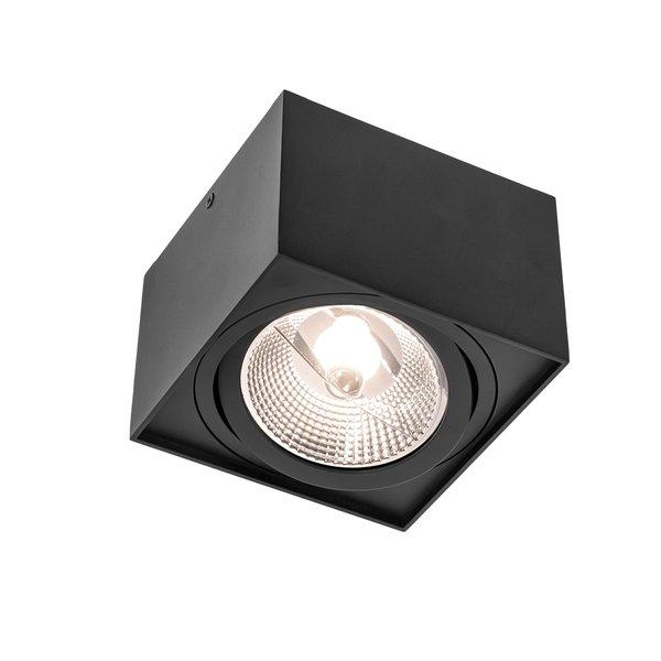 Spectrum LED plafondspot - AR111 230V - Mat Zwart Vierkant - Excl. AR111 LED Spot geleverd