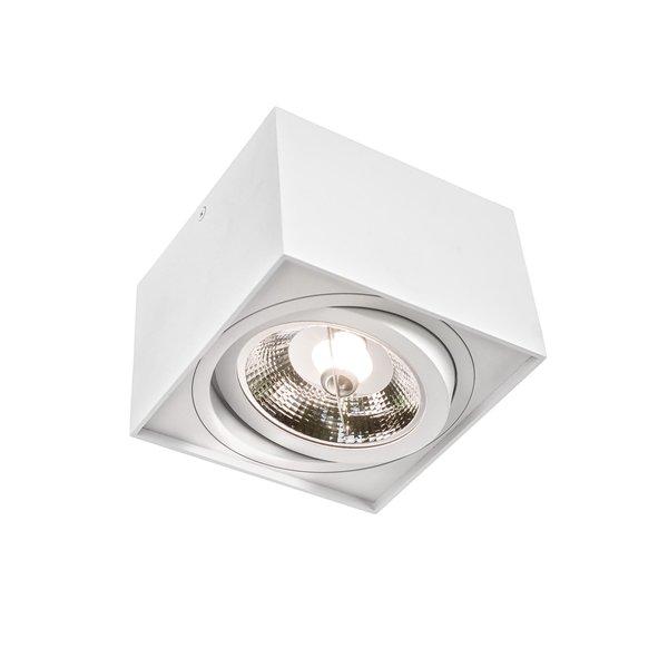 Spectrum LED plafondspot - AR111 230V - Mat Wit Vierkant - Excl. AR111 LED Spot geleverd