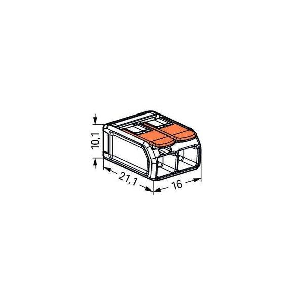 2 stuks WAGO lasklem  0.14-4 mm 2 polig