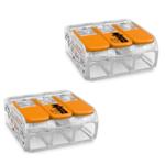 WAGO 2 stuks WAGO Lasklem  0.14-4 mm 3 polig