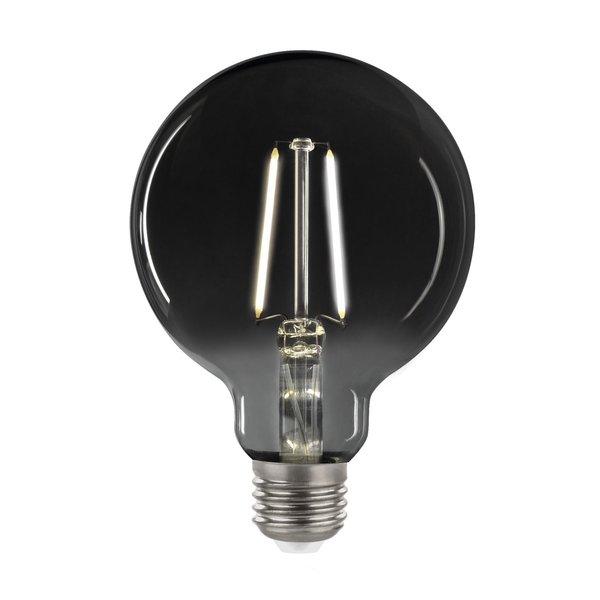 LED Filament lamp Smoked glass - XL GLOBE G125 - E27 fitting 4,5W - 4000K helder wit licht