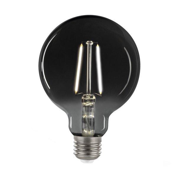 LED Filament lamp Smoked glass - GLOBE G95 - E27 fitting 4,5W - 4000K helder wit licht