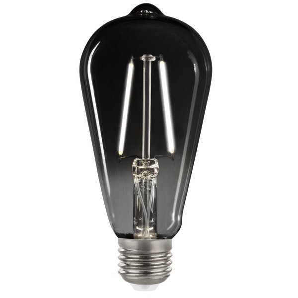 LED Filament lamp Smoked glass - Tall ST64 - E27 fitting 2,5W - 4000K helder wit licht