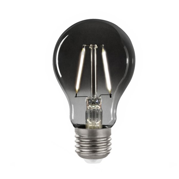 LED Filament lamp Smoked glass - A60 - E27 fitting 2W - 4000K helder wit licht