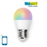 Voordeelpak 10 stuks - AigoSmart WiFi LED Lamp - E27 7W G45 - RGB+CCT alle lichtkleuren - Bediening met de App