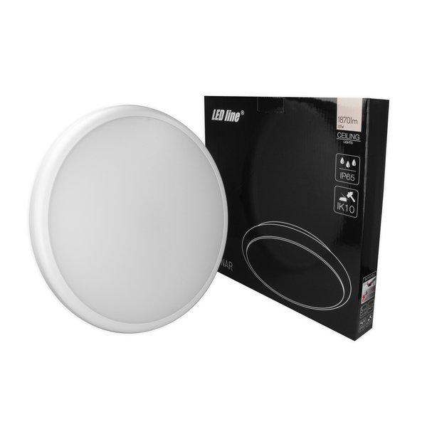 Plafondlamp LED  Lunar - met sensor- IP65 Waterdicht - 22W vervangt 160W - Helder wit licht 4000K