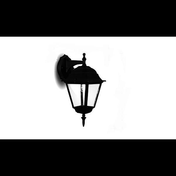 LED wandlamp - Klassiek laag - E27 fitting - IP44 Buitengebruik - Geschikt voor 1 E27 lamp