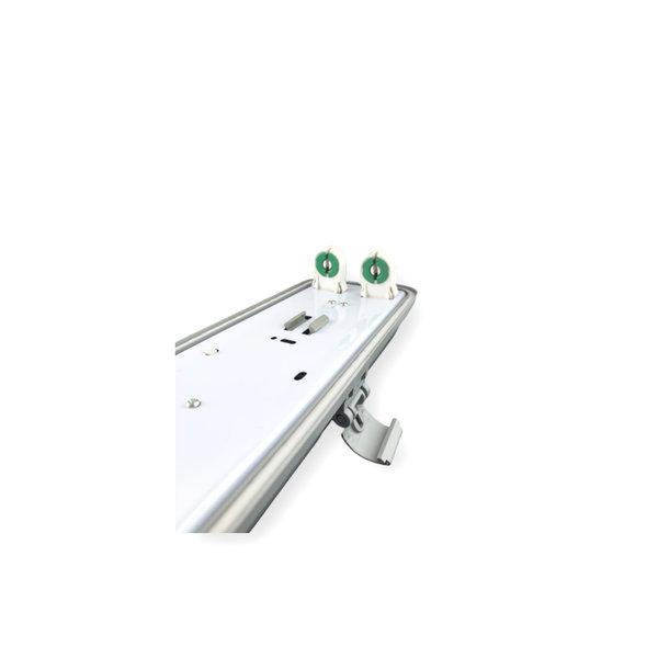 1.5m 48W LED TL Waterdichte armatuur IP65 + 2 LED TL buizen 4000K 840 helder wit licht compleet