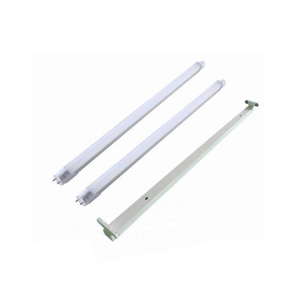 LED TL armatuur 60cm + 2 LED TL buizen 10W p/s - 6000K 865 daglicht - Compleet