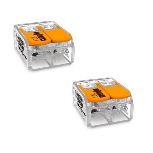 150cm aansluitstekker met aan- uitschakelaar - 2-polig incl. 2 WAGO kabelverbinders - 0.75mm²