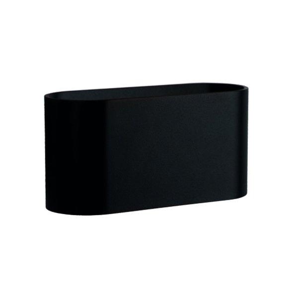 LED Wandlamp Ovaal - Mat Zwart met G9 fitting - 80x80x160 mm