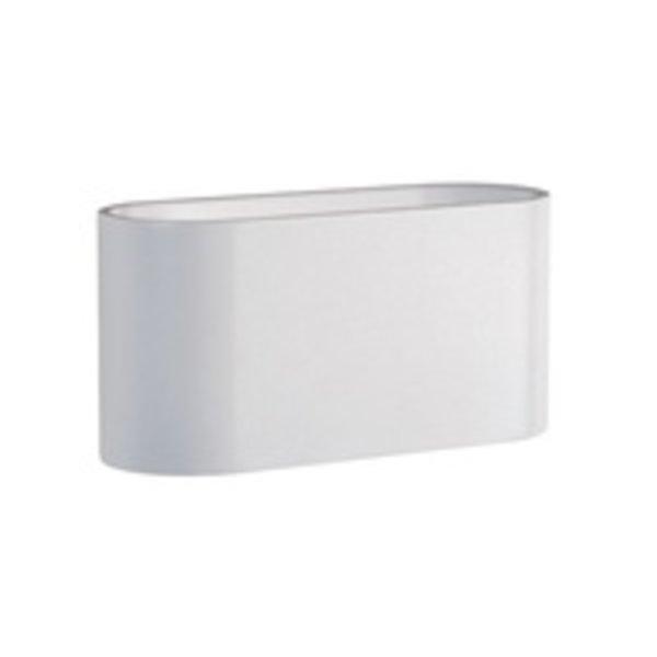 LED Wandlamp Ovaal - Mat Wit met G9 fitting - 80x80x160 mm