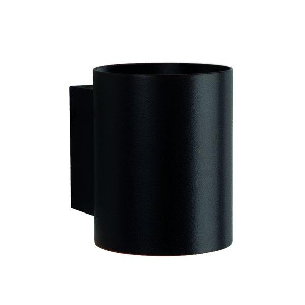 LED Wandlamp Rond - Mat Zwart met G9 fitting - 100x80x100mm
