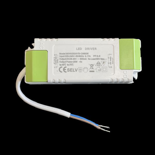 LED paneel driver flikkervrij - 25W 28-40V 600mA - Niet dimbaar