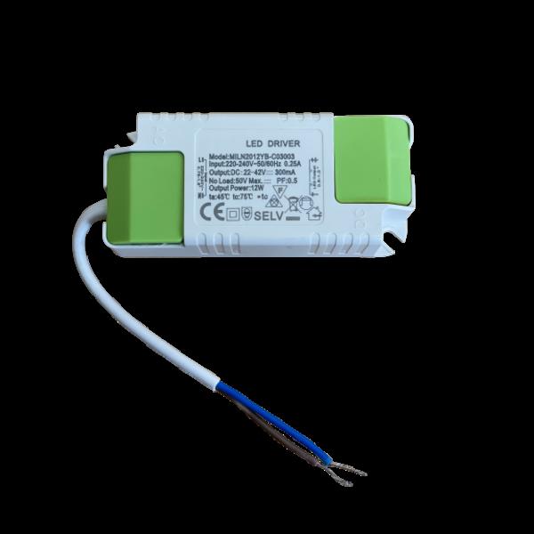 LED paneel driver flikkervrij - 12W 22-42V 300mA - Niet dimbaar