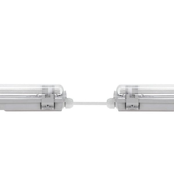 120cm LED armatuur IP65 + 2 LED TL buizen 18W p/s - 4000K 840 helder wit licht -  Compleet
