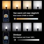 WiFi LED kogellamp - E14 5W - 2700K-6500K - Bediening met de App