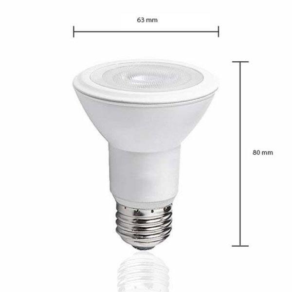 LED lamp - E27 PAR20 - 8W vervangt 60W - 3000k warm wit licht