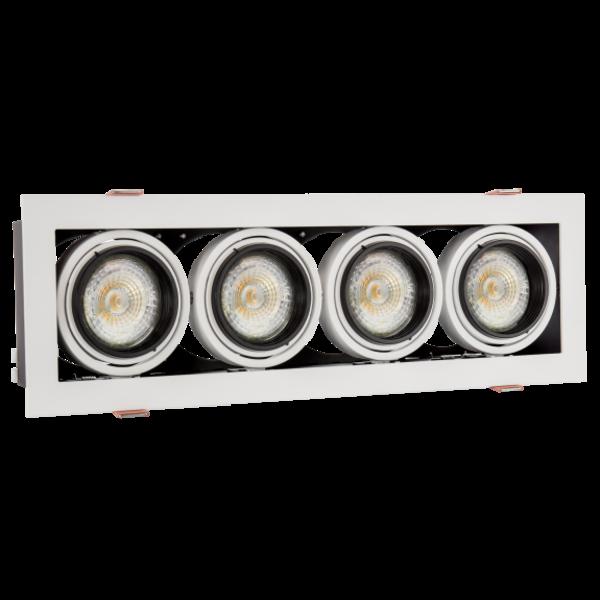 LED inbouwspot armatuur Modern Mini - Rechthoekig met 4 GU10 aansluiting