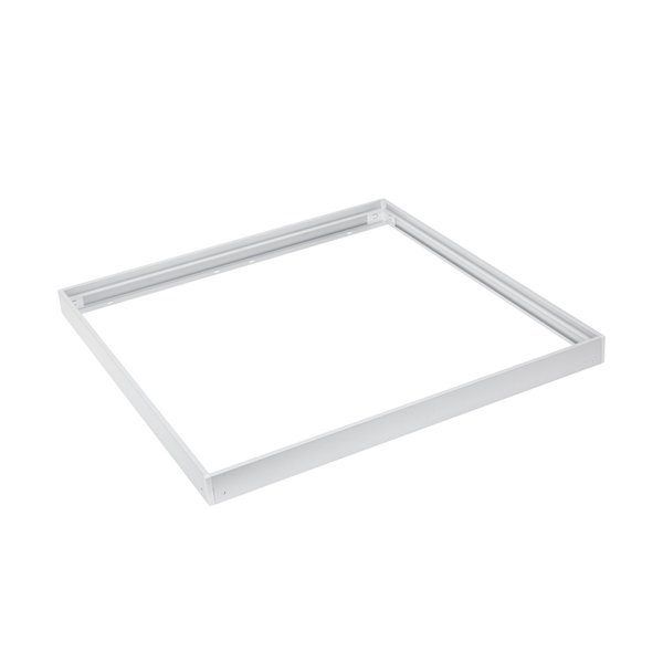 LED paneel opbouw - 60x60cm Framesysteem Type B schroefloos - Wit aluminium - 5cm hoog