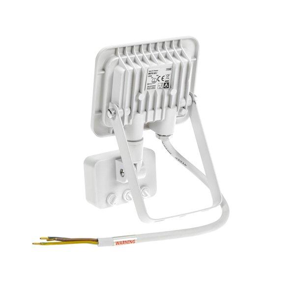Spectrum LED schijnwerper met sensor Wit - 10W IP44 - Lichtkleur optioneel - 3 jaar garantie
