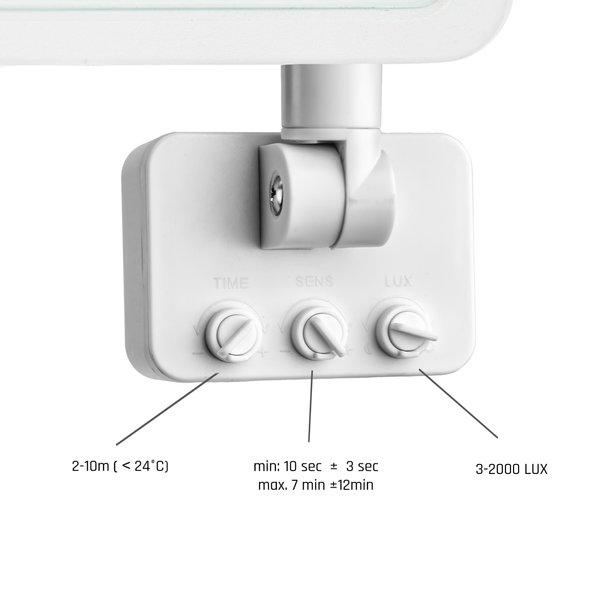 Spectrum LED schijnwerper met sensor Wit - 20W IP44 - Lichtkleur optioneel - 3 jaar garantie