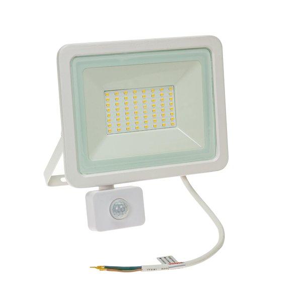 Spectrum LED schijnwerper met sensor Wit - 50W IP44 - Lichtkleur optioneel - 3 jaar garantie