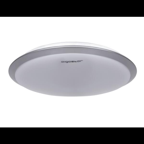 Aigostar LED Plafondlamp Zilver rond - 18W Lichtkleur optioneel - 3 jaar garantie - Copy
