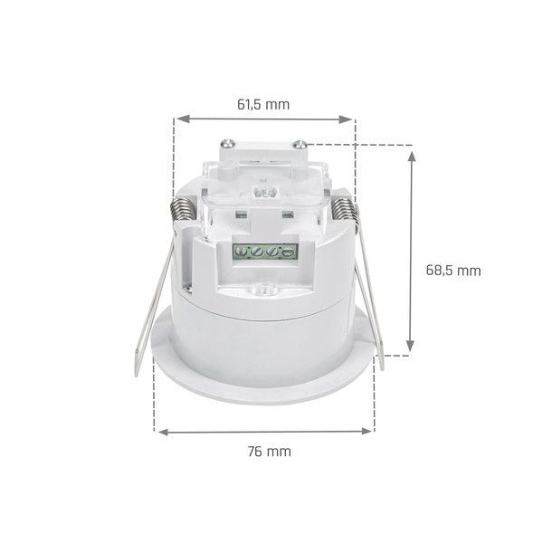 WiFi slimme pir sensor inbouw - IP20 1200W 6m 1-10V dim functie - 5 jaar garantie