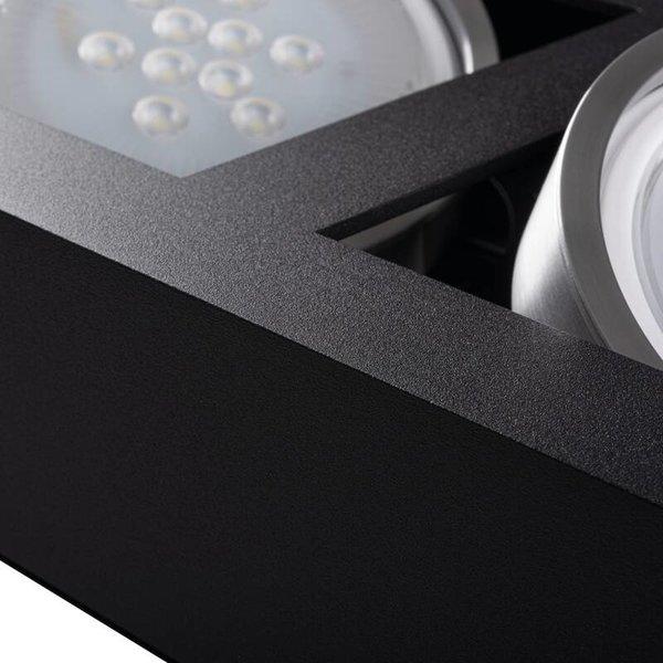 Kanlux LED AR111 GU10 plafondspot armatuur zwart - Tweevoudig voor 2 LED GU10 spots