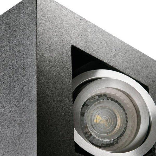 Kanlux LED GU10 plafondspot armatuur zwart - Enkelvoudig voor 1 LED GU10 spot