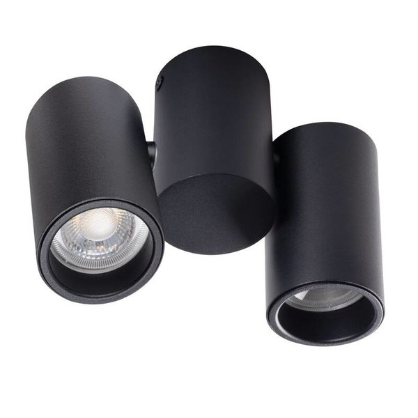 Kanlux LED GU10 plafondspot verstelbaar zwart - Dubbelvoudig voor 2 LED GU10 spots