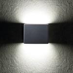 Kanlux LED wandlamp grafiet IP54 - 8W 4000K helder wit licht - Up and down lichtspreiding