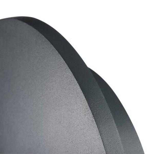 Kanlux LED wandlamp grafiet IP54 - 8W 4000K helder wit licht - 360° lichtspreiding