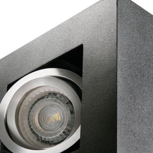 Kanlux LED GU10 plafondspot armatuur zwart - Drievoudig voor 3 LED GU10 spots