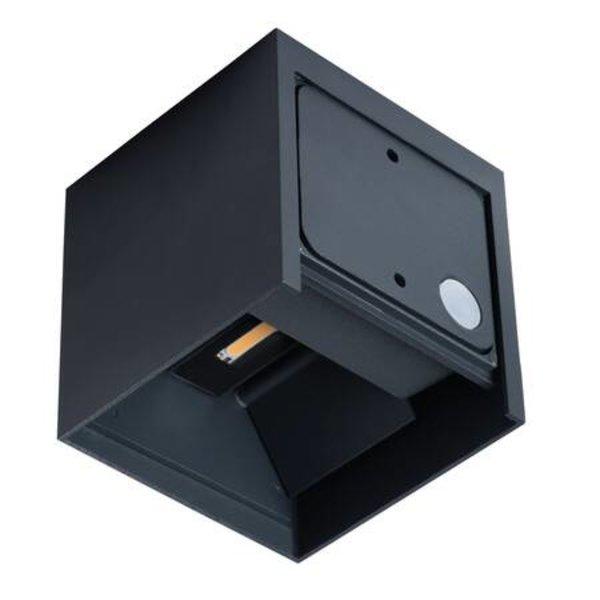 Kanlux LED wandlamp grafiet IP54 - 7W 4000K helder wit licht - verstelbare lichtspreiding