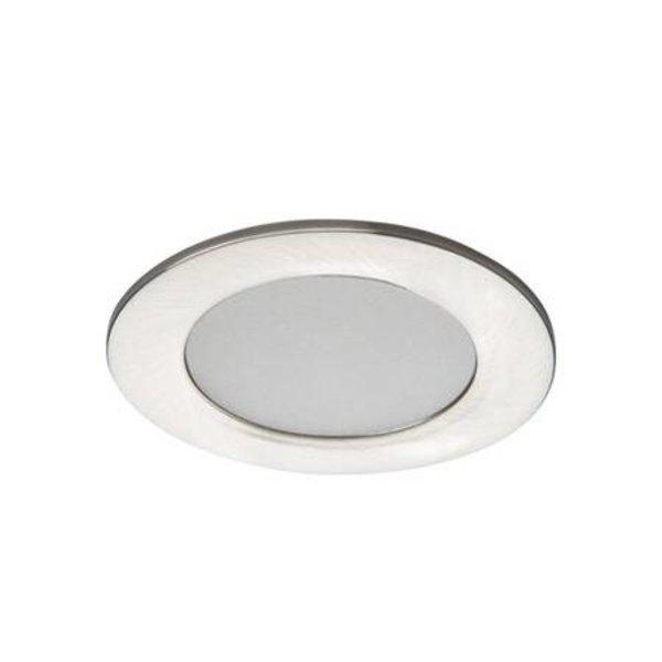 Kanlux LED inbouwspot satijn nikkel IP44 - 4,5W 4000K helder wit licht - zaagmaat 65mm buitenmaat 83mm