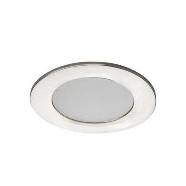 Kanlux LED inbouwspot satijn nikkel IP44 - 4,5W 3000K warm wit licht - zaagmaat 65mm buitenmaat 83mm