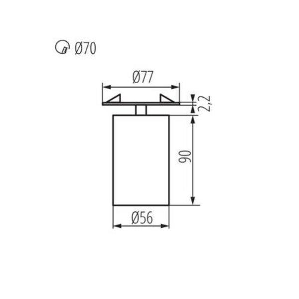Kanlux LED GU10 plafondspot richtbaar zwart rond - Enkelvoudig voor 1 LED GU10 spot