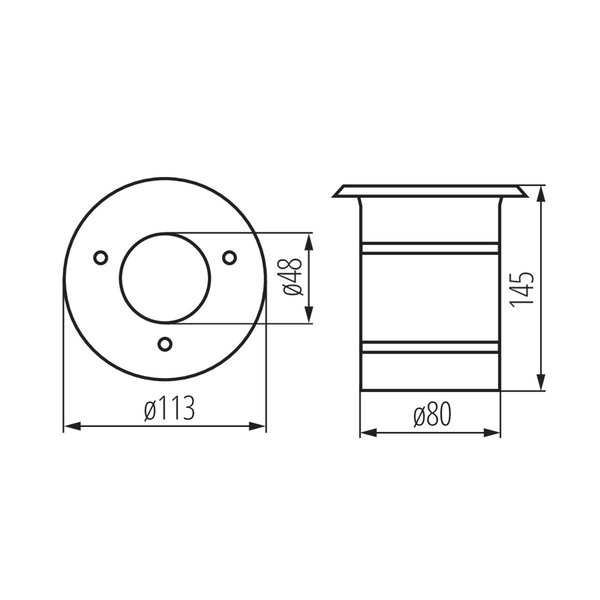 Kanlux LED GU10 grondspot RVS IP67 - Enkelvoudig voor 1 LED GU10 spot